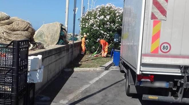 pulizia rifiuti fiumicino