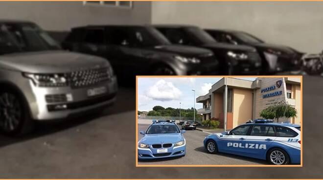 Polizia Stradale Aprilia_Capannone auto rubate_2019_09_12