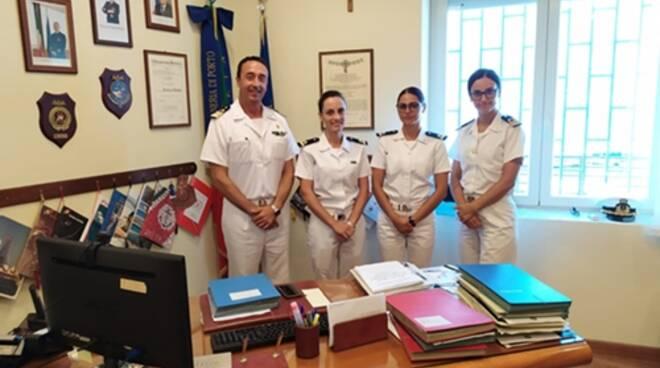 Giovani ufficiali di Marina, concluso il tirocinio alla Guardia costiera di Terracina e Gaeta