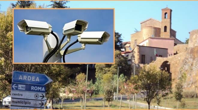 Copertina telecamere sorveglianza Ardea