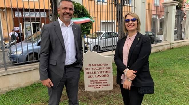 Giornata nazionale per le vittime sui luoghi di lavoro, a Gaeta Amnil e Ugl depositano una stele