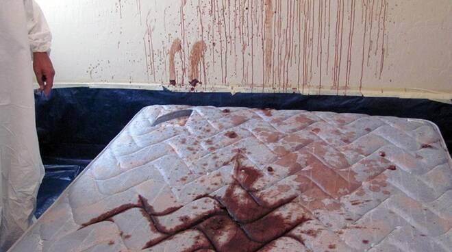 sangue sul letto