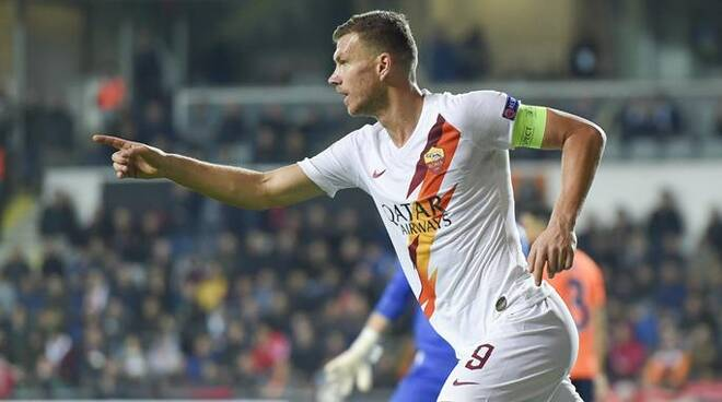 as roma europa league edin dzeko