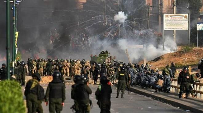 scontro in bolivia