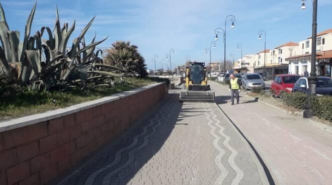pulizia spiagge lungomare della salute