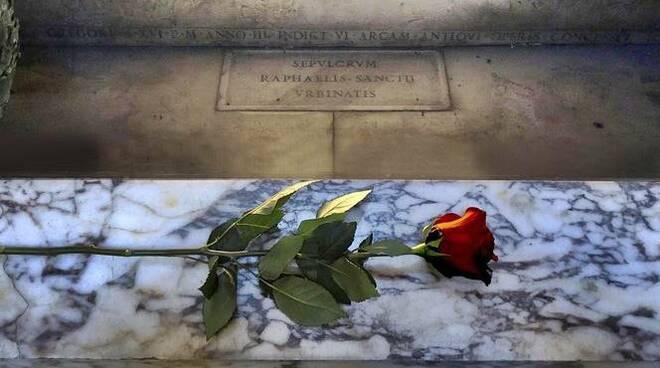 rosa tomba raffaello pantheon