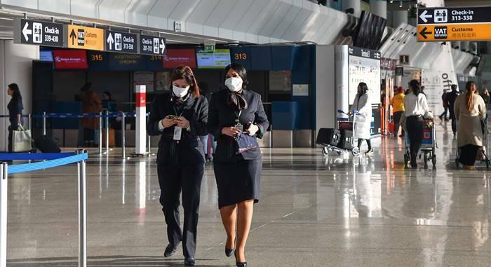 virus cina aeroporto di fiumicino
