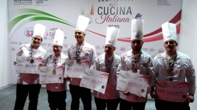 Campionati di cucina, l'alberghiero di Formia fa incetta di medaglie