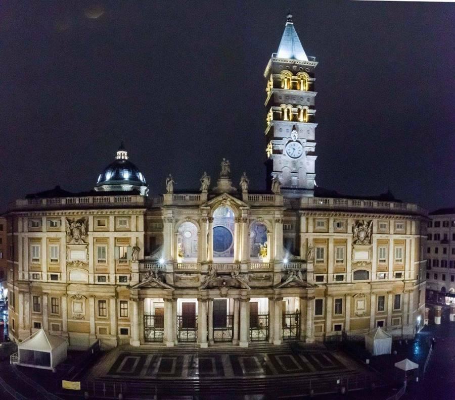illuminazione basilica papale santa maria maggiore roma esquilino