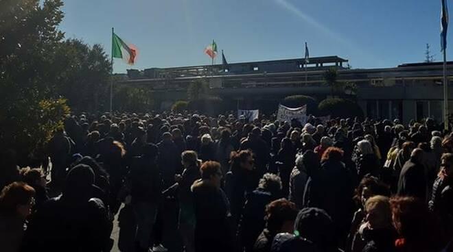 protesta discarica monte carnevale regione lazio
