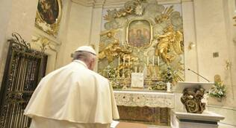 madonna del divino amore papa francesco