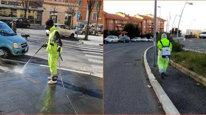 sanificazione strade