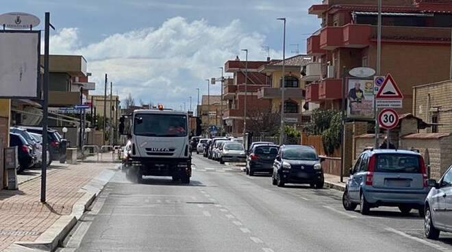 sanificazione strade fiumicino