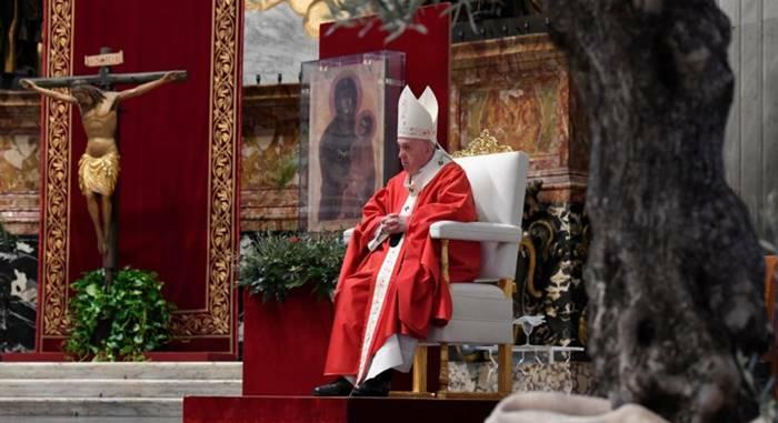 papa francesco messa domenica delle palme