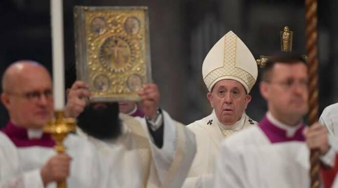 papa francesco messa in coena domini coronavirus