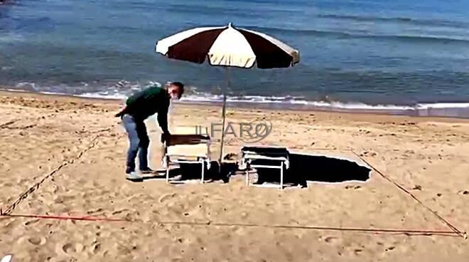 spazio ombrelloni spiagge dopop il covid-19
