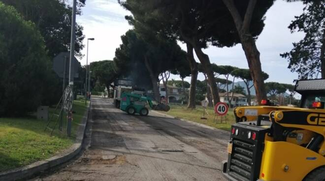 Manutenzione stradale, a Sabaudia partiti i lavori in via Principe Eugenio