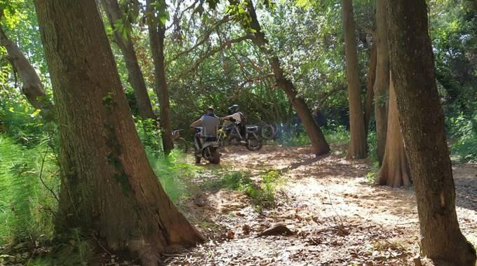 motocross nel Parco del Circeo