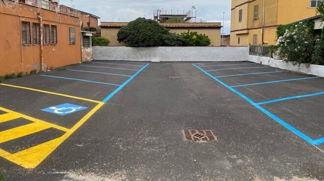 nuovi parcheggi lungomare della salute fiumicino
