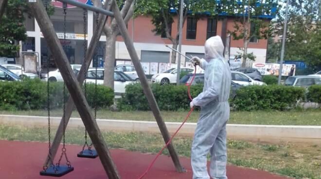 Sanificazione parchi Pomezia