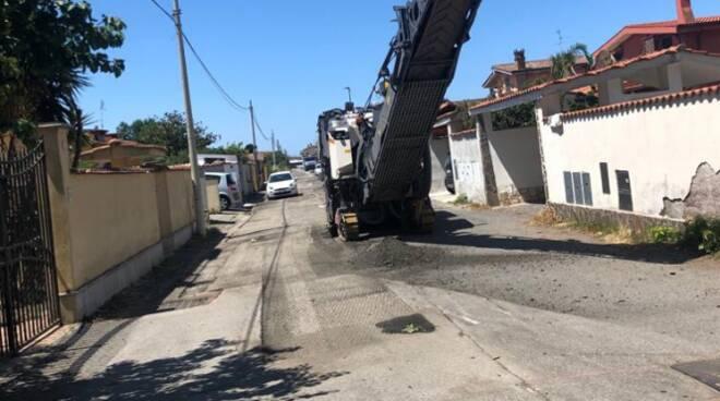 lavori stradali Isola Sacra Fiumicino