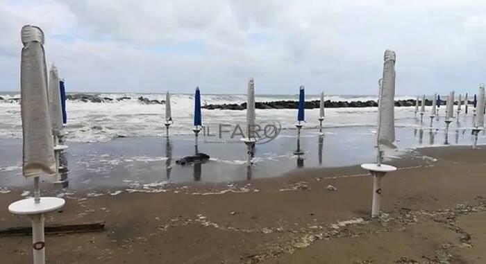 mareggiata fiumicino