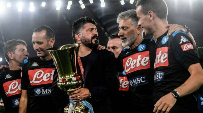 """La Coppa Italia al Napoli. Gattuso: """"La vita ti toglie, ma il ..."""