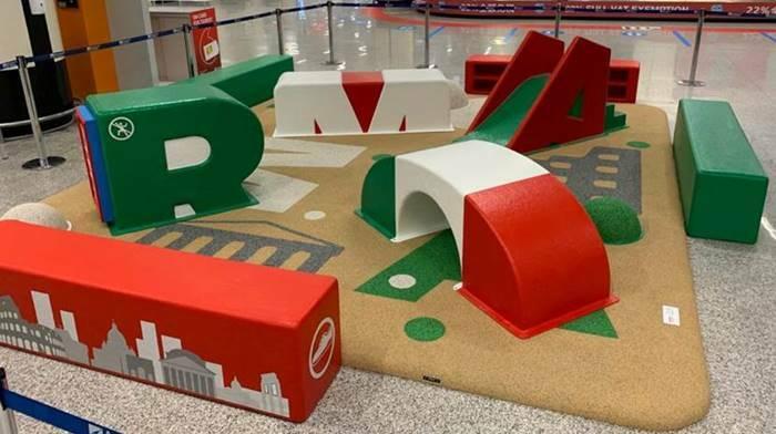 area giochi aeroporto fiumicino