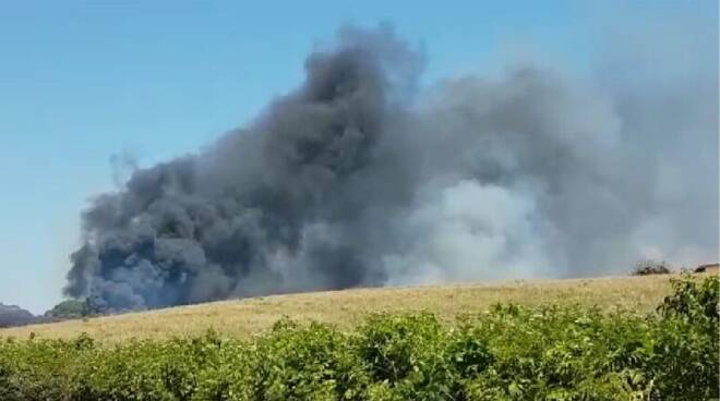 incendio Montagnano