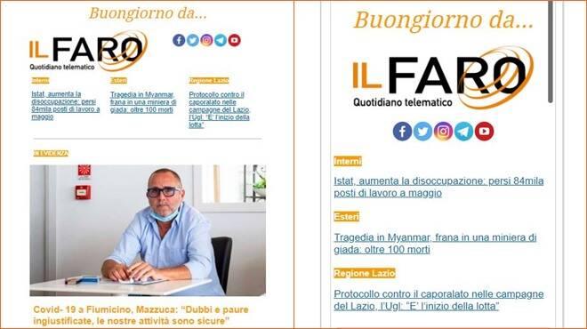 newsletter Il Faro online
