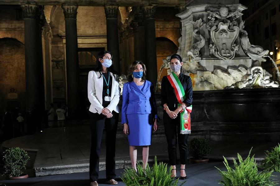 nuova illuminazione artistica pantheon roma