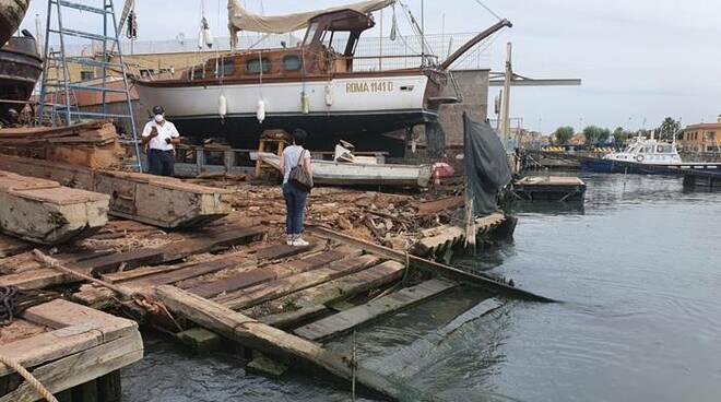 sequestro cantiere navale fiumicino