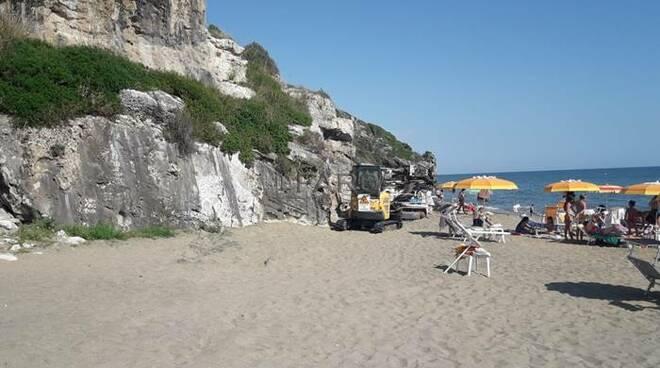 trivella spiaggia minturno