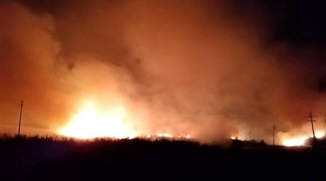 incendio Civitavecchia