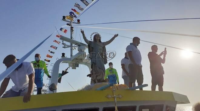 processione festa assunta 2020 fiumicino