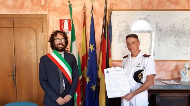 Alessio Pascucci e il Sottocapo Stefano Cordisco