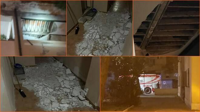 crollo soffitto fiumicino