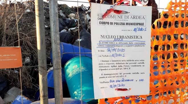 discarica rifiuti Ardea Polizia Locale