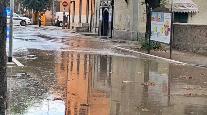 Via della Gente Salinatoria allagata Ostia Antica