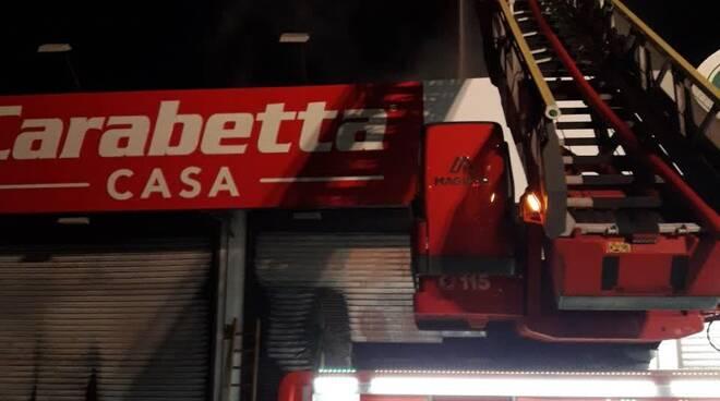 Carabetta incendio - Cerveteri