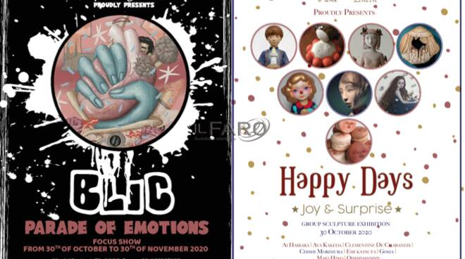 Happy Days Group Scuplture Exhibition In conjunction with Parade of Emotions Focus on BLIC