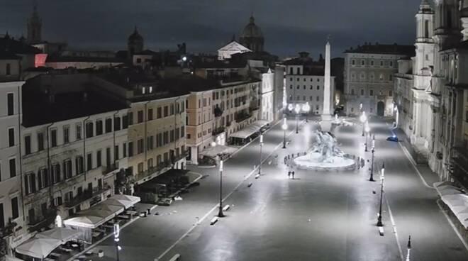 coprifuoco roma piazze e vie centro deserte