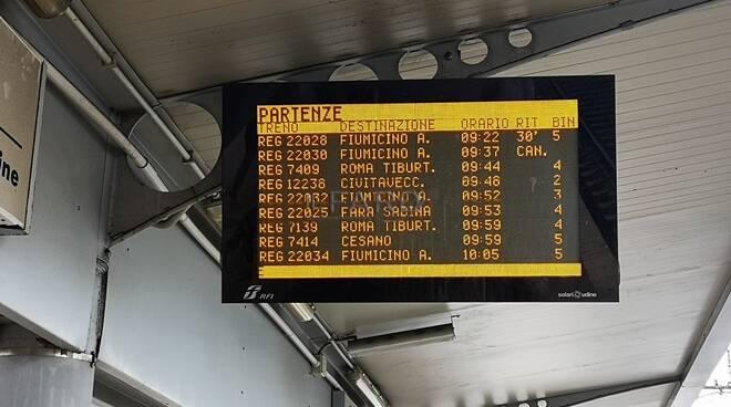 ritardi treni fl1 termini aeroporto