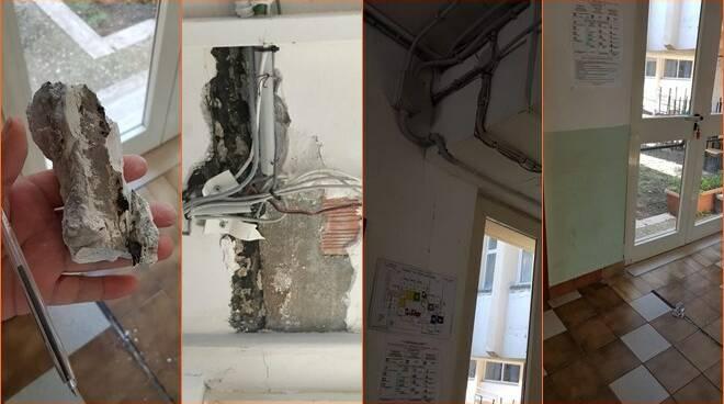 crollo calcinacci scuola ladispoli