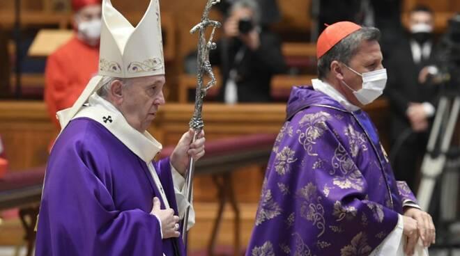 messa papa francesco cardinali avvento