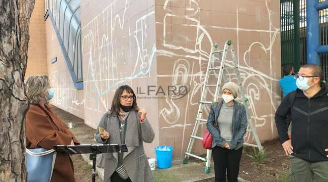 presentazione murales lido nord ostia