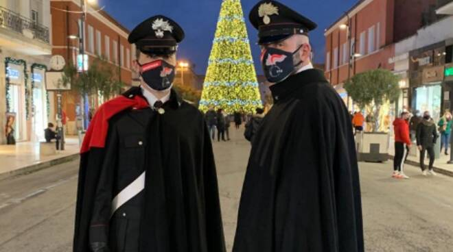 carabinieri a piedi Latina