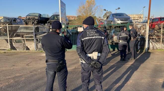sequestro impianti di autodemolizioni Roma