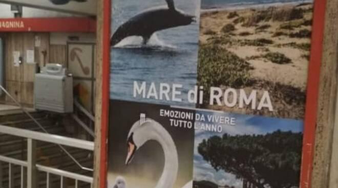 manifesti ostia metro roma
