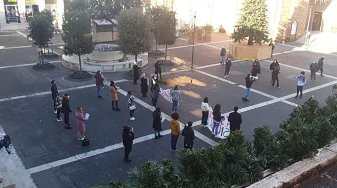 Protesta studenti Pomezia